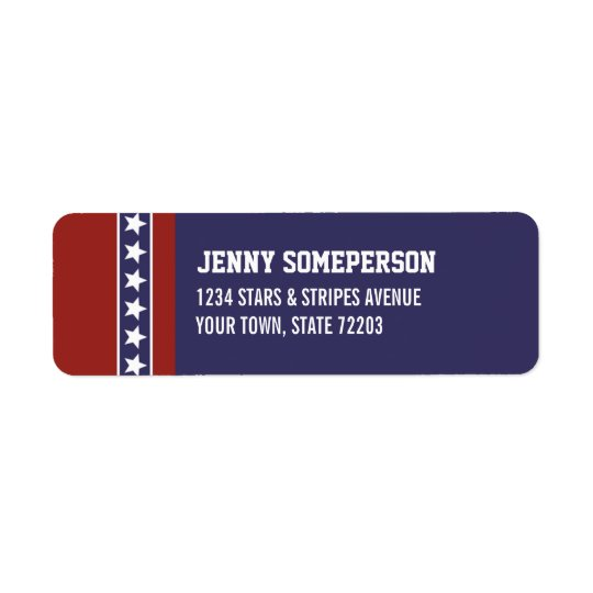 Patriotic USA Return Address Label