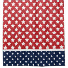Patriotic USA Stars and Polka Dots Shower Curtain