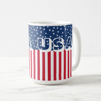 Patriotic USA Stars and Stripes American Flag 4th Coffee Mug