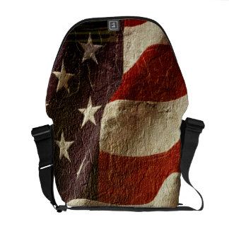 Patriotic USA Stars and Stripes Optical Illusion Commuter Bags