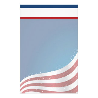 Patriotic USA Stationery with Letterhead