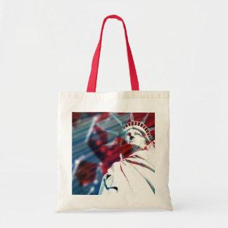 Patriotic USA Statue of Liberty Flag Design Budget Tote Bag