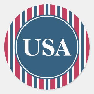 Patriotic USA Stickers Stickers