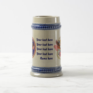 Patriotic-Veteran 2 Different Designs Beer Stein
