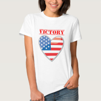 Patriotic Victory Heart United States Tee Shirts