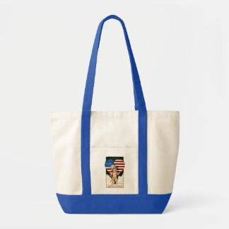 Patriotic Vintage Flag Image Impulse Tote Bag