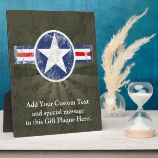 Patriotic Vintage Military USA Star Plaque