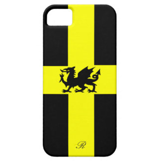 Patriotic Wales Dragon Yellow Black iPhone 5 Case