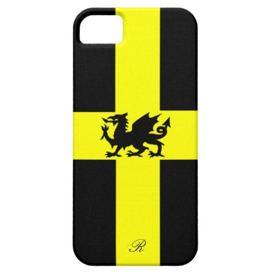 Patriotic Wales Dragon Yellow Black iPhone 5 Case