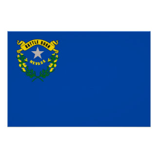 Patriotic wall poster with Flag of Nevada
