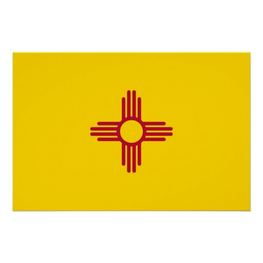 Patriotic wall poster with Flag of New Mexico Perfect Poster