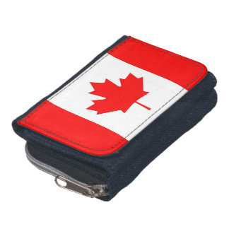 Patriotic wallet with Flag of Canada