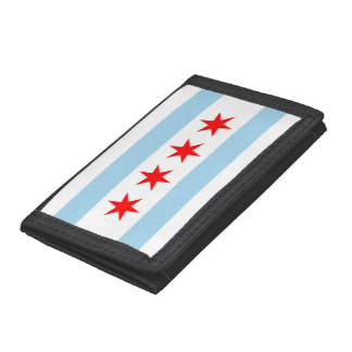 Patriotic wallet with Flag of Chicago, Illinois