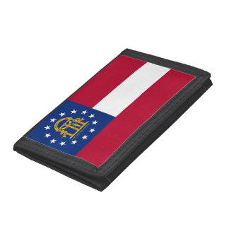Patriotic wallet with Flag of Georgia