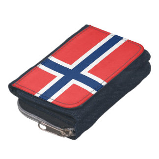 Patriotic wallet with Flag of Norway