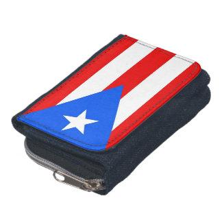 Patriotic wallet with Flag of Puerto Rico