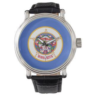 Patriotic watch with Flag of Minnesota