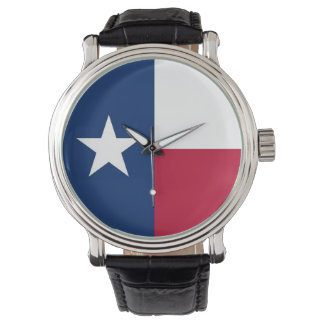 Patriotic watch with Flag of Texas