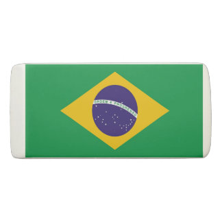 Patriotic Wedge Eraser with flag of Brazil