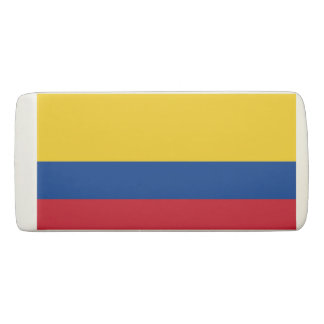 Patriotic Wedge Eraser with flag of Colombia