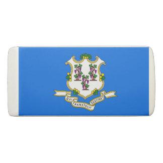 Patriotic Wedge Eraser with flag of Connecticut