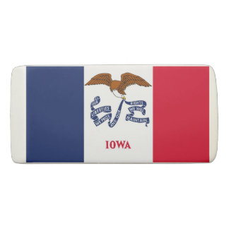 Patriotic Wedge Eraser with flag of Iowa
