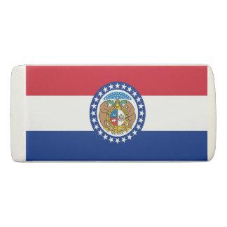 Patriotic Wedge Eraser with flag of Missouri