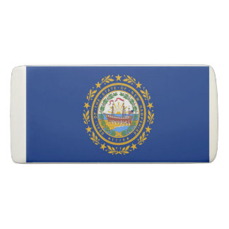 Patriotic Wedge Eraser with flag of New Hampshire