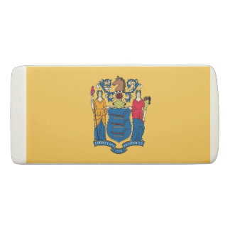 Patriotic Wedge Eraser with flag of New Jersey