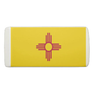 Patriotic Wedge Eraser with flag of New Mexico
