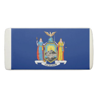 Patriotic Wedge Eraser with flag of New York