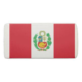 Patriotic Wedge Eraser with flag of Peru