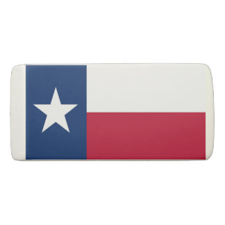 Patriotic Wedge Eraser with flag of Texas