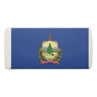 Patriotic Wedge Eraser with flag of Vermont