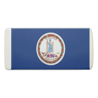 Patriotic Wedge Eraser with flag of Virginia