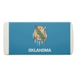 Patriotic Wedge Eraser with flag Oklahoma