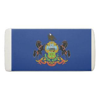 Patriotic Wedge Eraser with flag Pennsylvania