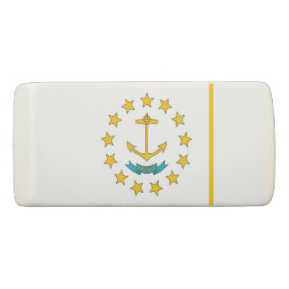Patriotic Wedge Eraser with flag Rhode Island