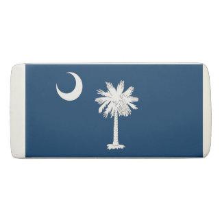 Patriotic Wedge Eraser with flag South Carolina