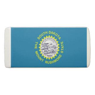 Patriotic Wedge Eraser with flag South Dakota