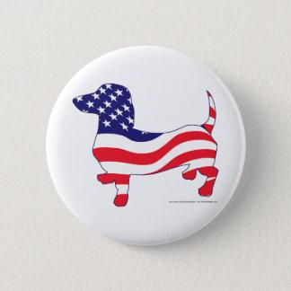 Patriotic-Weiner 6 Cm Round Badge