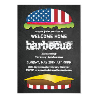 Patriotic Welcome Home BBQ Card