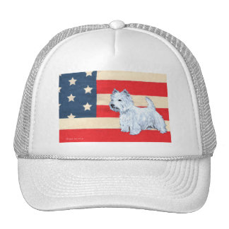 Patriotic West Highland White Terrier Trucker Hat