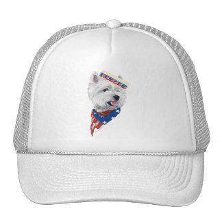 Patriotic West Highland White Terrier Trucker Hats