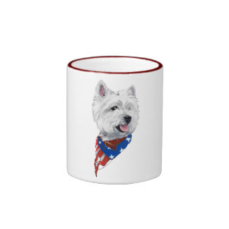 Patriotic West Highland White Terrier Mugs
