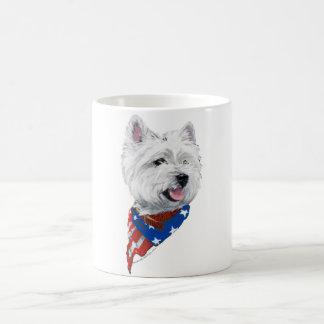 Patriotic West Highland White Terrier Coffee Mug