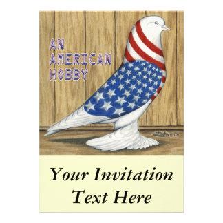 Patriotic West Pigeon Invite