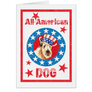 Patriotic Wheaten Card