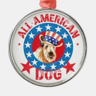 Patriotic Wheaten Christmas Ornament