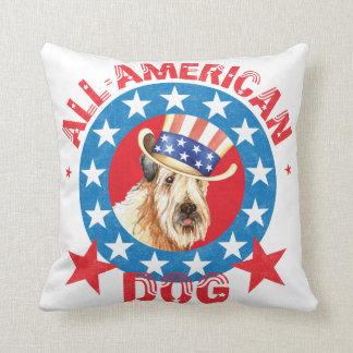 Patriotic Wheaten Cushion